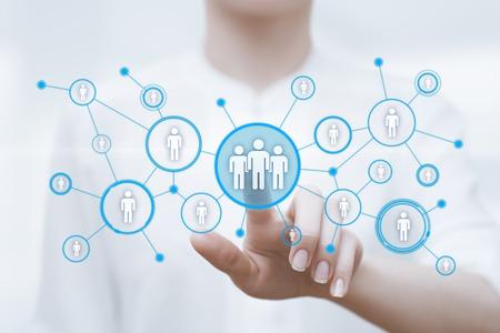 Human Resources HR management Recruitment Employment Headhunting Concept. Foto de archivo