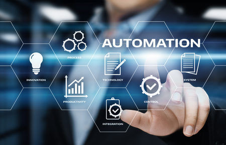Automation Software Technology Process System Business concept. 스톡 콘텐츠
