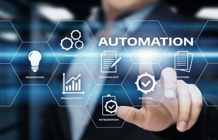 Automation Software Technology Process System Business concept. Banque d'images