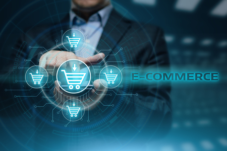 e-commerce add to cart online shopping business technology internet concept. Reklamní fotografie