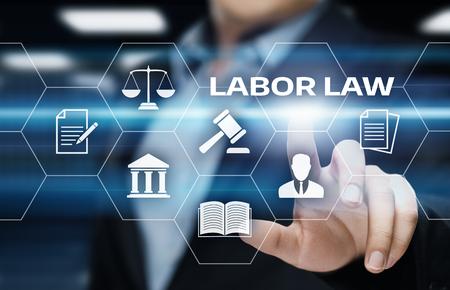 Concetto legale di tecnologia di Internet di affari dell'avvocato di legge di lavoro. Archivio Fotografico