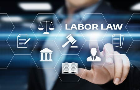 Labour Law Lawyer Legal Business Internet Technology Concept.