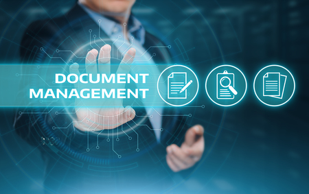 Document Management Data Systeem Zakelijk Internet Technologie Concept. Stockfoto - 88114612