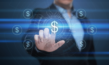 Dollar Currency Business Banking Finance Technology Concept.