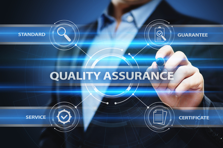 Quality Assurance Service Guarantee Standard Internet Business Technology Concept..