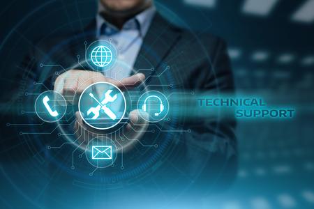 テクニカル サポート顧客サービス ビジネス技術インターネット概念。