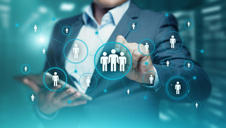Human Resources HR management Recruitment Employment Headhunting Concept. 스톡 콘텐츠