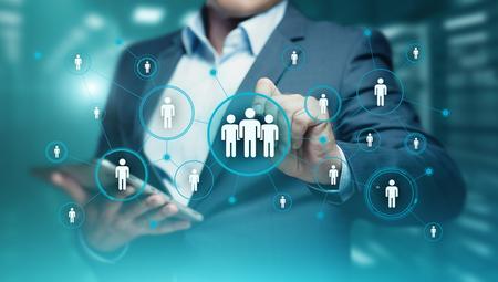 Human Resources HR management Recruitment Employment Headhunting Concept. Banque d'images