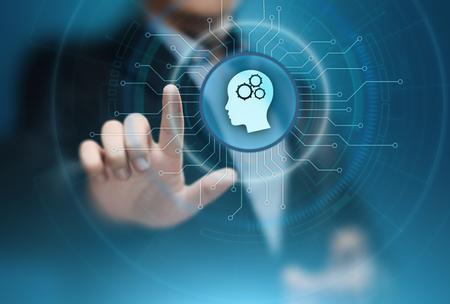 デジタル脳人工知能 AI 機ビジネス技術インターネット ネットワーク概念の学習します。