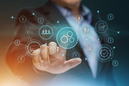 Automation Software Technology Process System Business concept. Standard-Bild