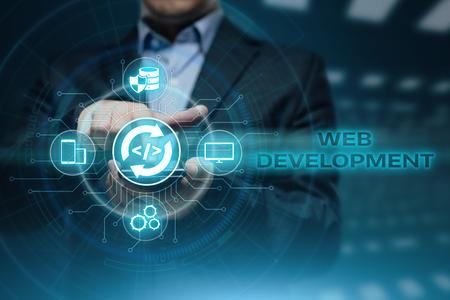 Web Development Coding Programming Internet Technology Business concept. Foto de archivo