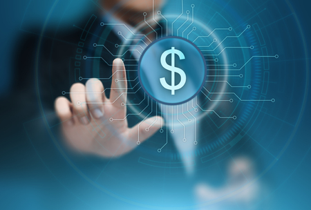 Dollarvaluta Zakenbank Financiëntechnologieconcept.
