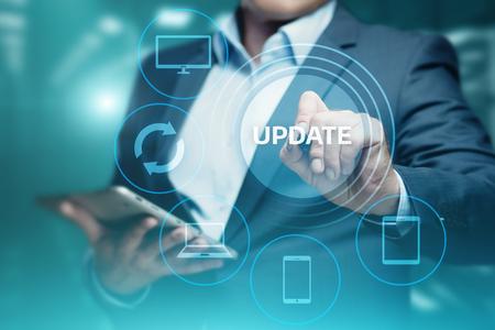 Aktualisieren Sie Software-Computer-Programm-Aktualisierung Geschäftstechnologie Internet-Konzept.
