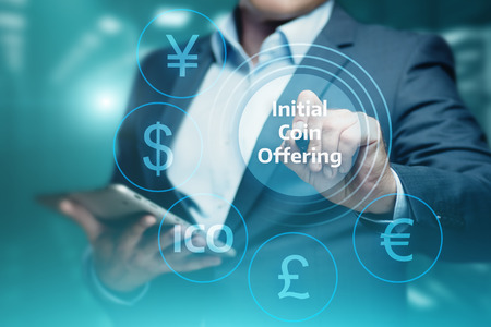 ICO Initial Coin Offering Business Internet Technology Concept. Foto de archivo - 91874083