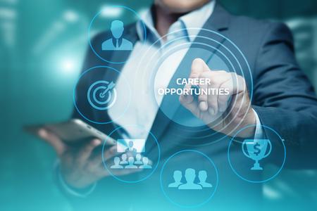 Career Opportunities Motivation Business Success Corporate Concept.