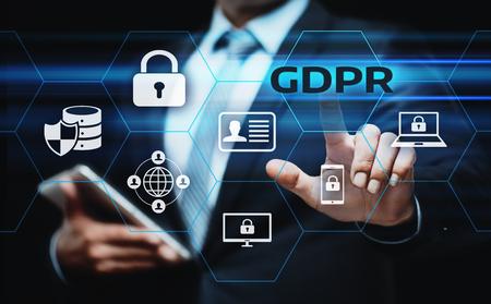 GDPR General Data Protection Regulation Business Internet Technology Concept. Imagens - 95356946