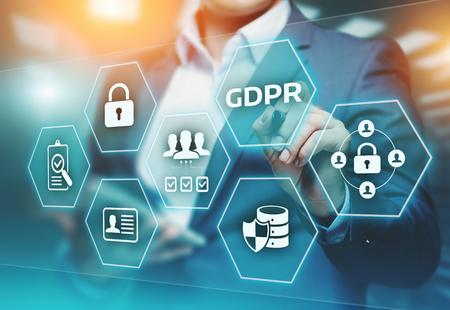 Règlement général sur la protection des données du RGPD Concept de technologie Internet d'entreprise. Banque d'images