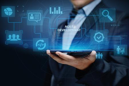 Agile Software Development Business Internet Techology Concept. Zdjęcie Seryjne