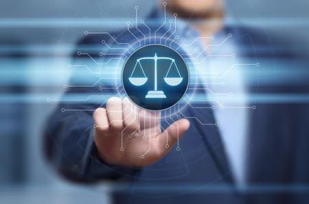 Concepto de la tecnología de Legal Business Internet del abogado del derecho laboral.