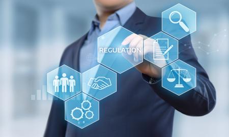 Regulation Compliance Rules Law Standard Business Technology concept. Stok Fotoğraf - 96158948