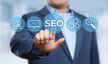 SEO Search Engine Optimization Marketing Ranking Traffic Website Internet Business Technology Concept. Фото со стока