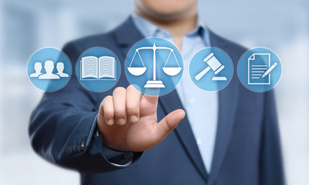 Labor Law Lawyer Legal Business Internet Technology Concept.