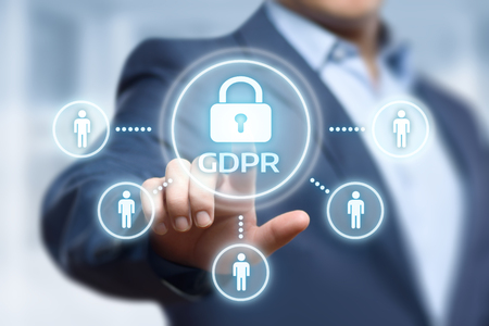 GDPR General Data Protection Regulation Business Internet Technology Concept. Stok Fotoğraf - 98765389
