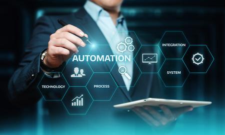 자동화 소프트웨어 기술 프로세스 시스템 비즈니스 개념입니다. 스톡 콘텐츠 - 98765390