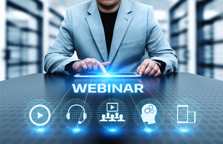 Webinaire E-learning Formation Business Internet Technology Concept.