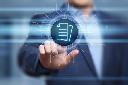 Document Management Data System Business Internet Technology Concept. Stock Photo