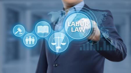 Labor Law Lawyer Legal Business Internet Technology Concept.