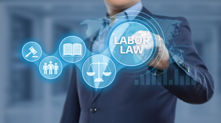 Labor Law Lawyer Legal Business Internet Technology Concept. Stock Photo