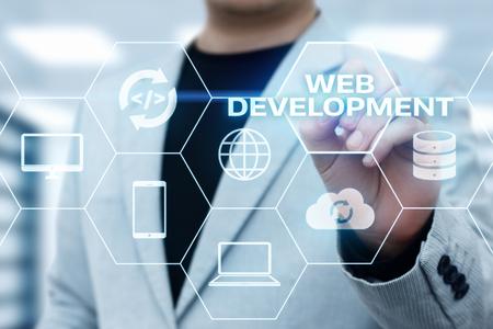 Web Development Coding Programming Internet Technology Business concept. Stock Photo