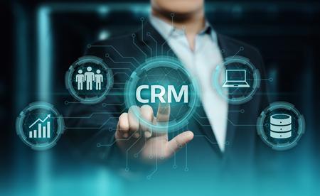 CRM Customer Relationship Management Business Internet Techology Concept. Stok Fotoğraf