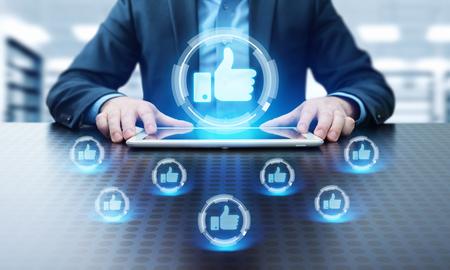 like button. Business Internet Social Media Technology Network Concept. 版權商用圖片
