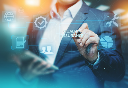 Quality Assurance Service Guarantee Standard Internet Business Technology Concept. Zdjęcie Seryjne