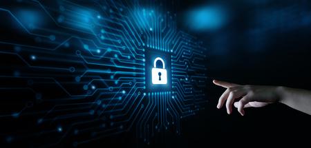 Cyber Security Data Protection Business Technology Concept de confidentialité.