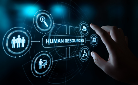 Human Resources HR management Recruitment Employment Headhunting Concept. Stock Photo