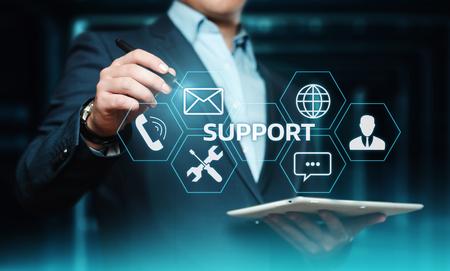 Technical Support Center Customer Service Internet Business Technology Concept. Stockfoto