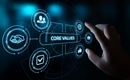 Valori fondamentali Responsabilità Etica Obiettivi Concetto aziendale.