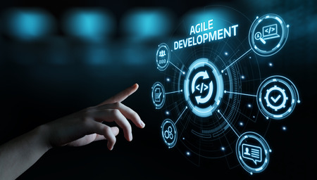 Concepto de tecnología de Internet empresarial de desarrollo de software ágil.