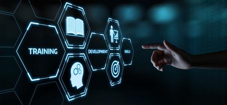 Webinaire de formation Compétences d'apprentissage en ligne Business Internet Technology Concept.