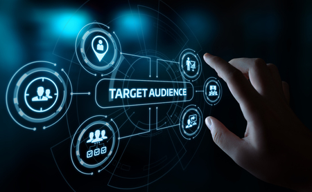 Public cible Marketing Internet Business Technology Concept.