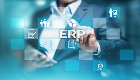 Enterprise Resource Planning ERP Corporate Company Management Business Internet Technology Concept. Stock Photo