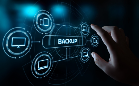 Backup Storage Data Internet Technology Business concept.