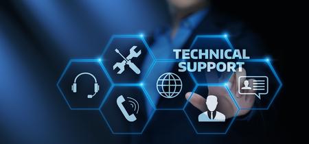 Technische ondersteuning Klantenservice Technologie Internet Bedrijfsconcept.