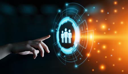 Human Resources HR management Recruitment Employment Headhunting Concept. 版權商用圖片