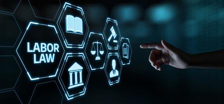 Arbeitsrecht Rechtsanwalt Legal Business Internet-Technologie-Konzept. Standard-Bild