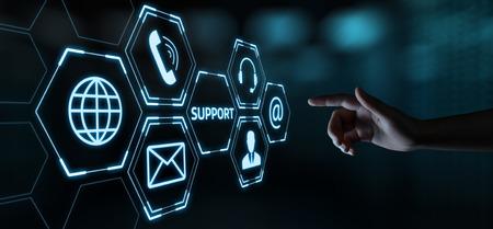Technical Support Center Customer Service Internet Business Technology Concept. 스톡 콘텐츠