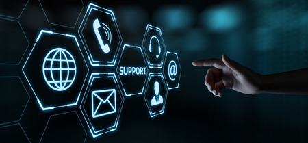 Centre de support technique Service client Internet Business Technology Concept.